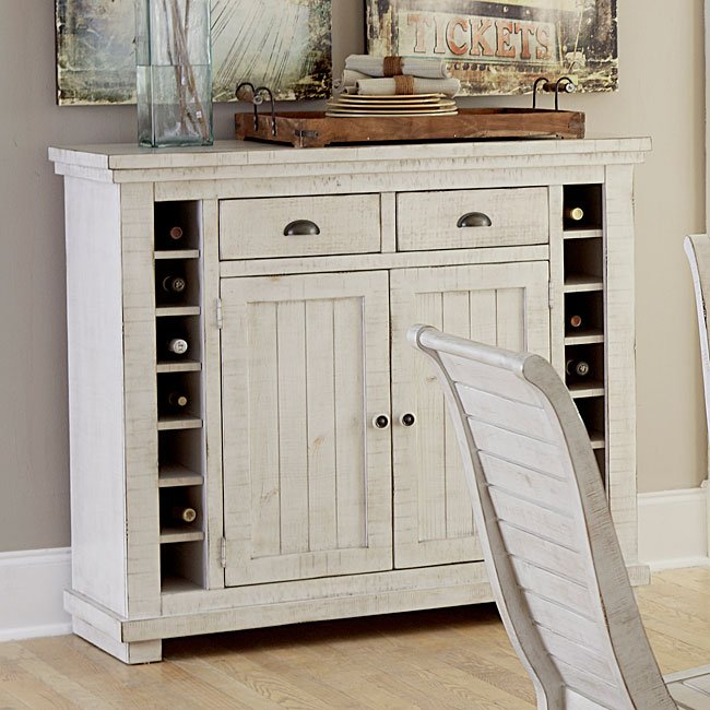 Willow Server Distressed White Buffets Sideboards And Servers Dining Room Kitchen
