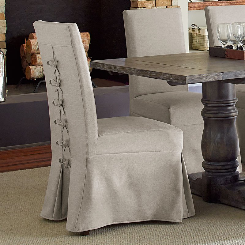 1 X Muses Rectangular Dining Table Parsons Chair W Cover Set Of 2