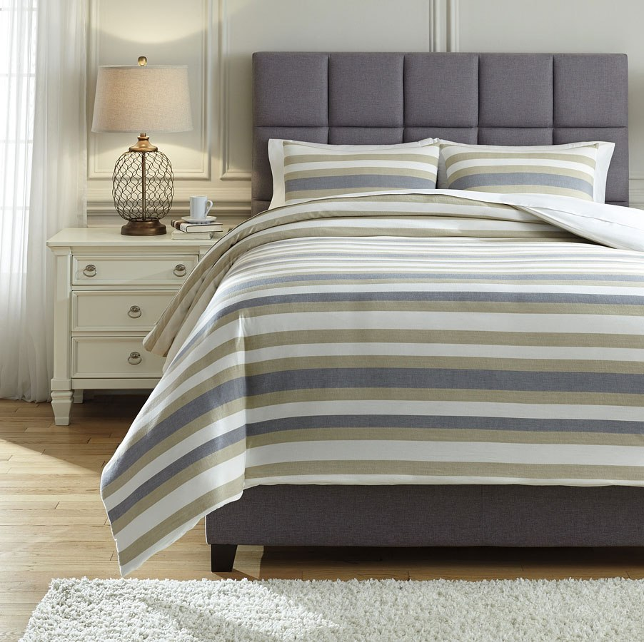 Isaiah Gray And Tan Comforter Set By Signature Design By