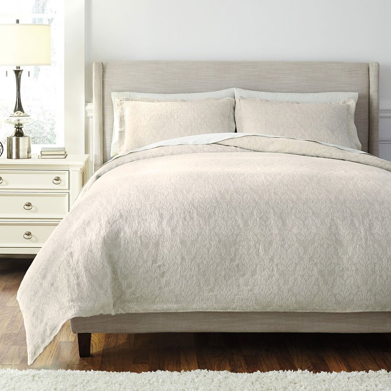 Damask Natural Duvet Cover Set By Signature Design By