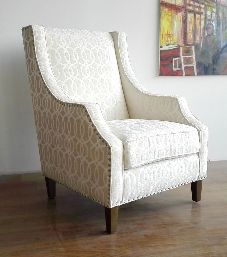 Quinn Accent Chair Ivory By Jofran Furniture Furniturepick