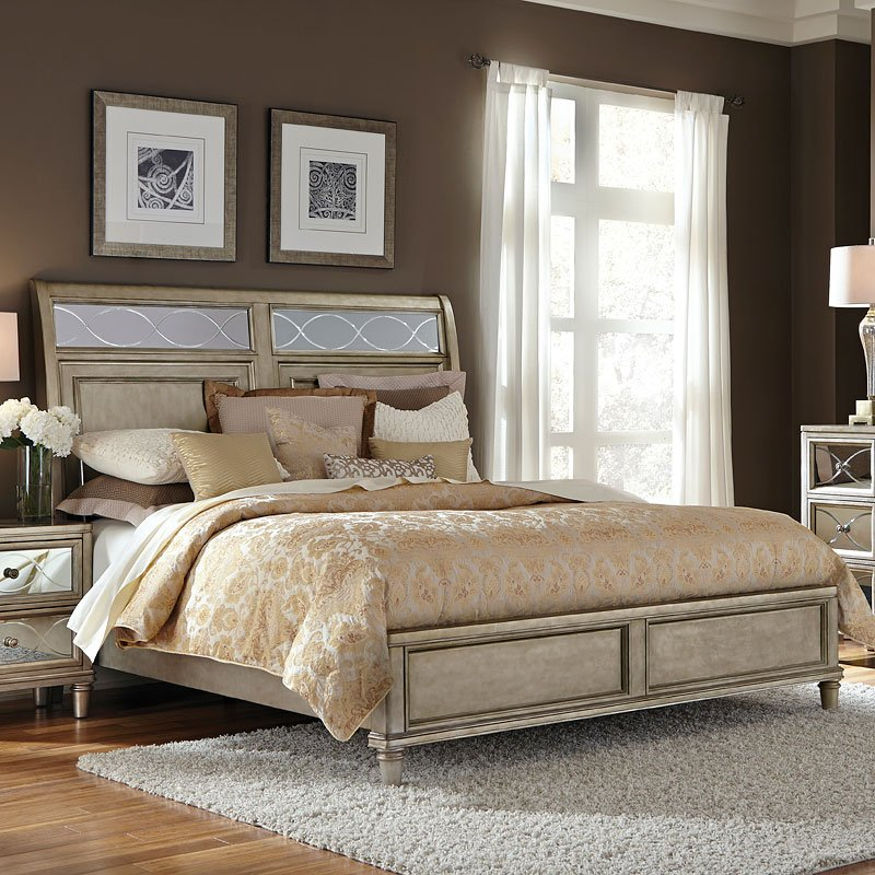Cut Glass Sleigh Bed By Samuel Lawrence Furniture