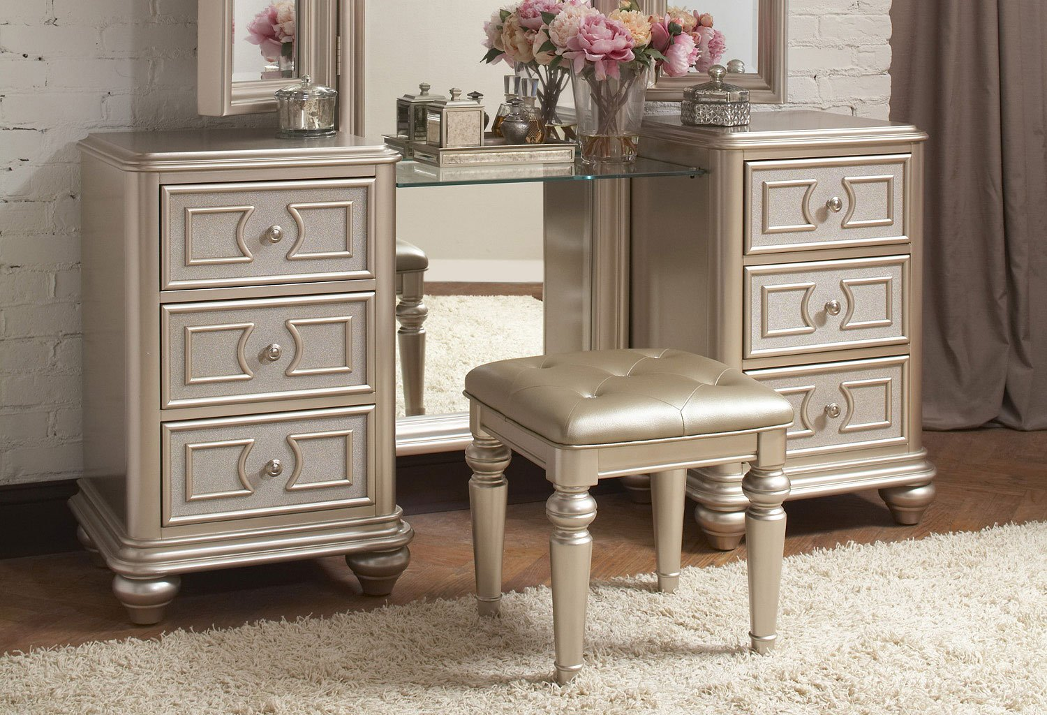 vanity bedroom set dynasty vanity w stool bedroom vanities bedroom 13717