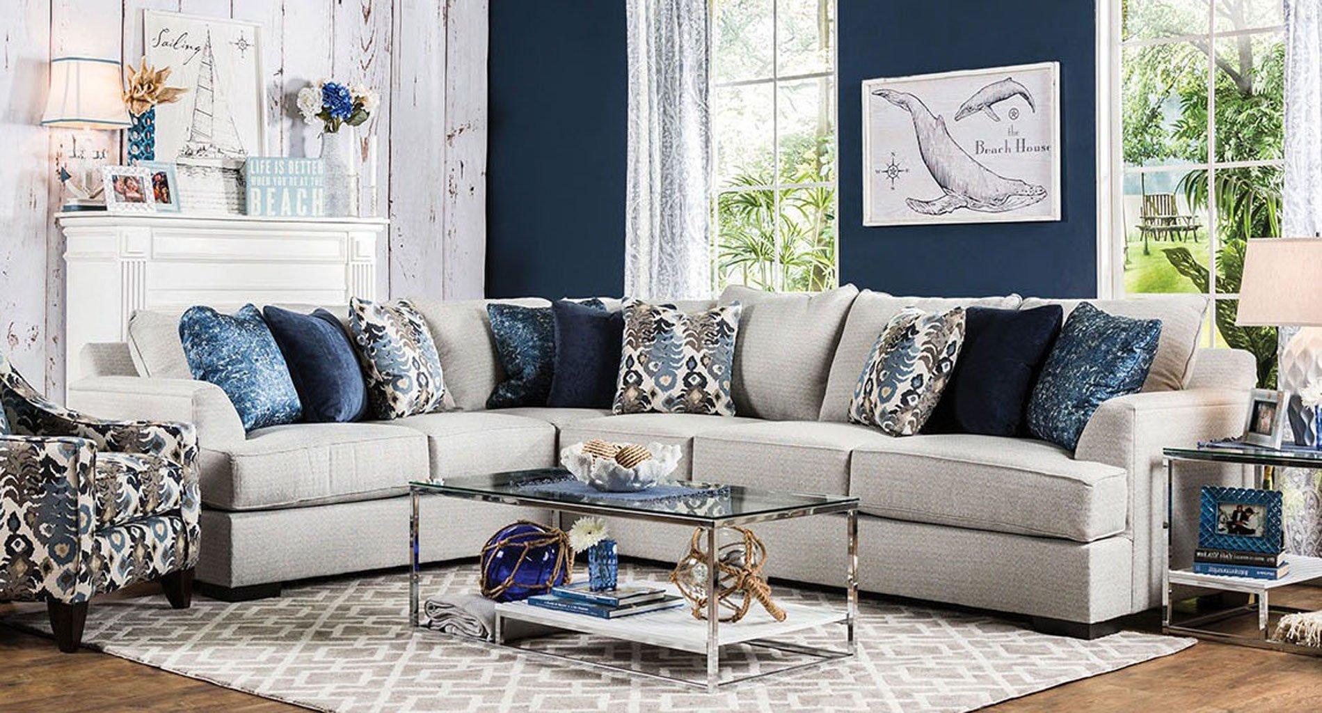 Pennington Sectional Set Beige Living Room Sets