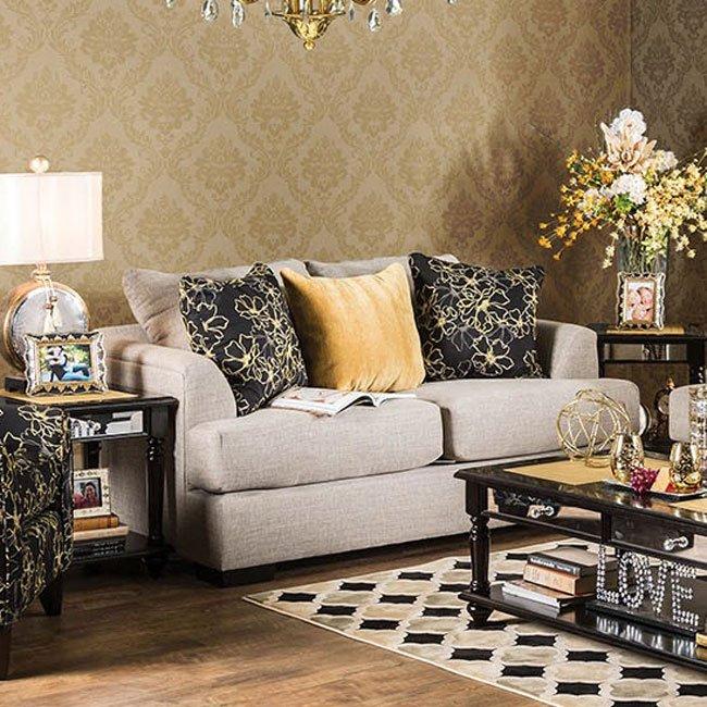 Navan Loveseat (Beige) By Furniture Of America