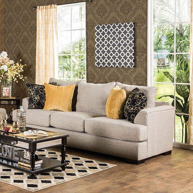 Navan Sofa (Beige) By Furniture Of America, 1 Reviews