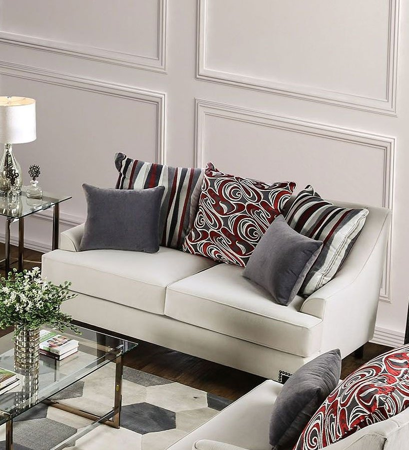 Ivory Living Room Furniture: Viscontti Living Room Set (Ivory) Furniture Of America