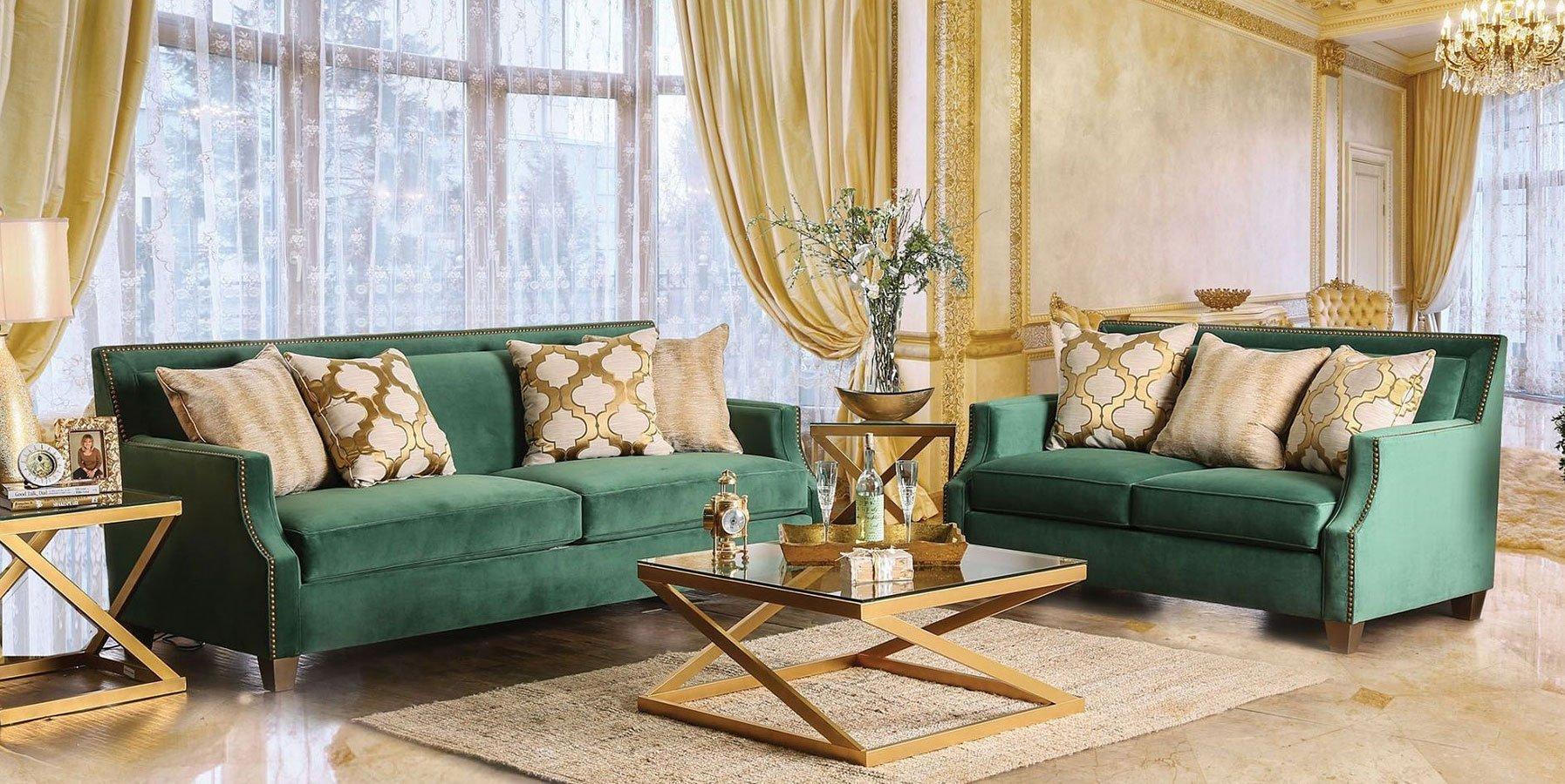 Verdante Living Room Set Emerald Green Living Room Sets Living Room Furniture Living Room