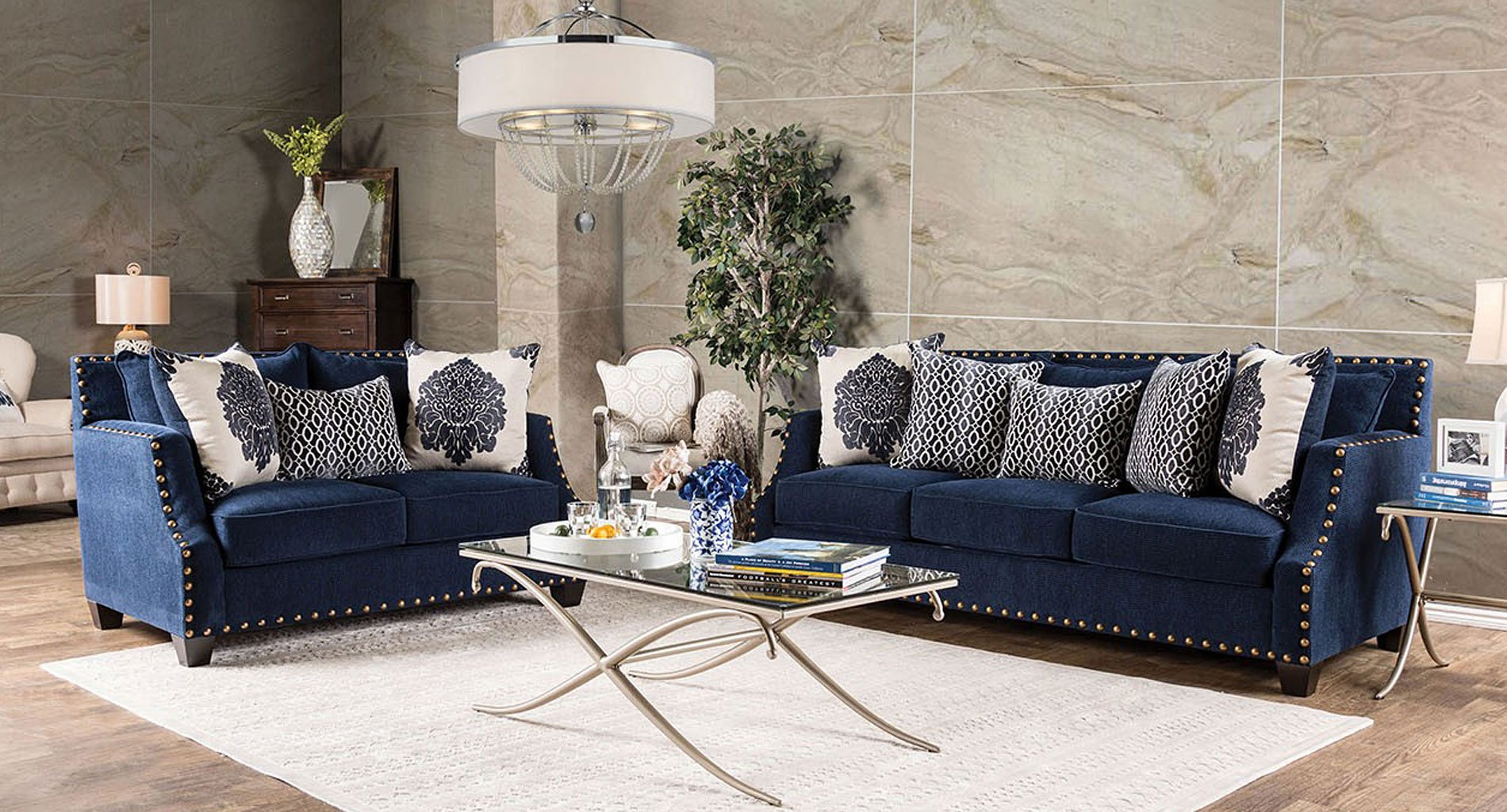 Cornelia living room set navy living room sets for Sm living room furnitures