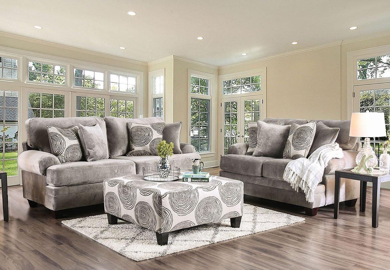 Bonaventura Living Room Set (Gray) by Furniture of America ...