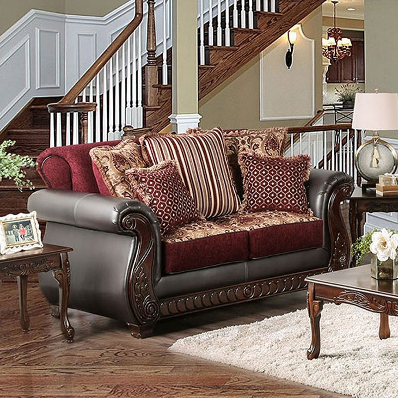 Franklin Loveseat (Burgundy)