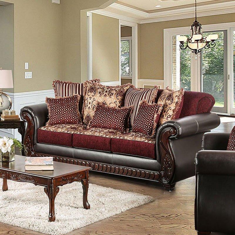 Franklin Sofa Burgundy Sofas Living Room Furniture Living Room