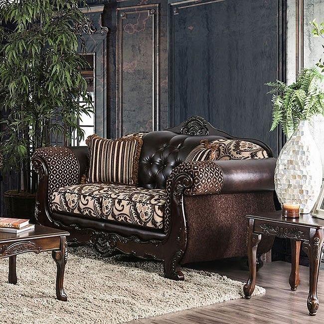 Quirino Living Room Set (Light Brown / Dark Brown) By