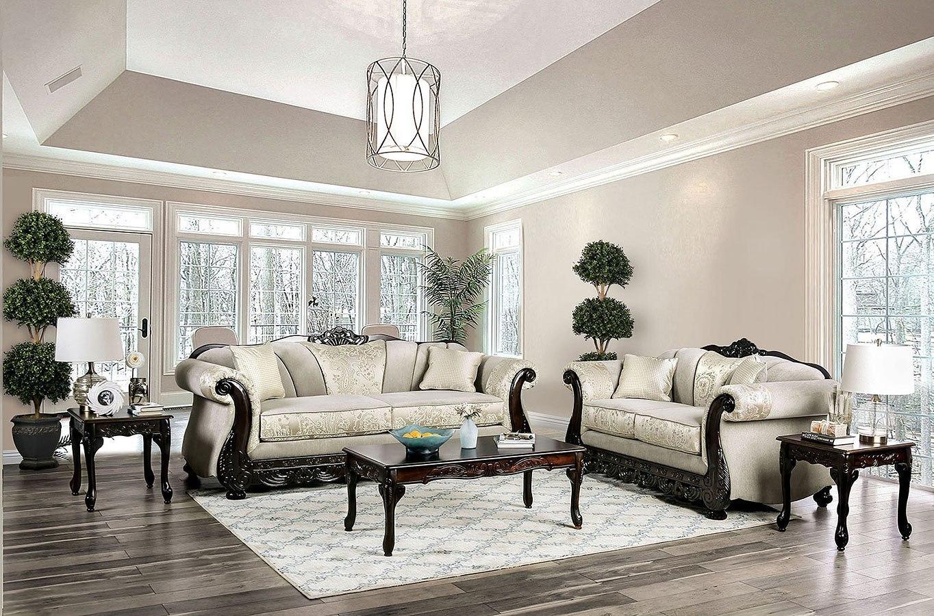 Newdale Living Room Set (Ivory)