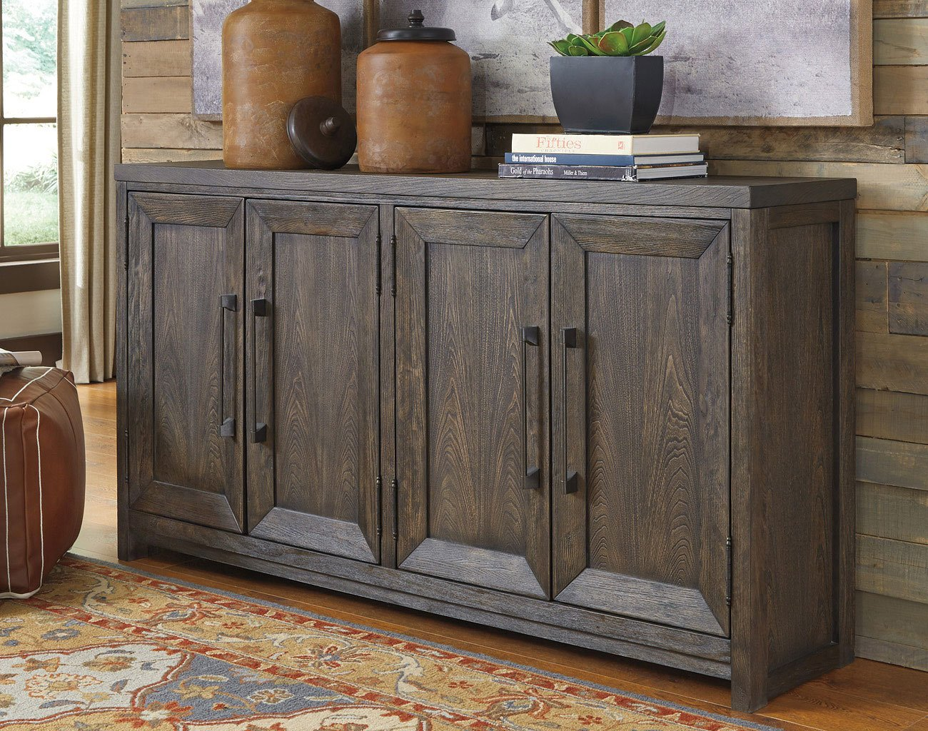 Reickwine Wide Accent Cabinet Accent Chests And Cabinets Occasional And Accent Furniture