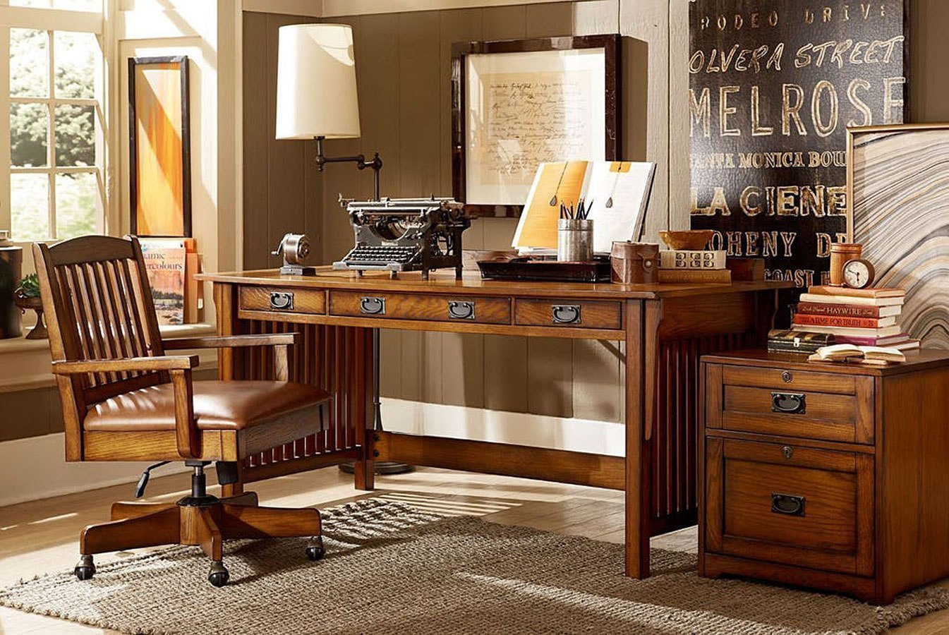 sedona home office set by hammary furniturepick. Black Bedroom Furniture Sets. Home Design Ideas