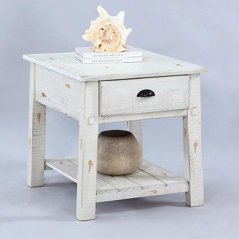 Willow end table distressed white end tables occasional and accent furniture living room for White end tables for living room
