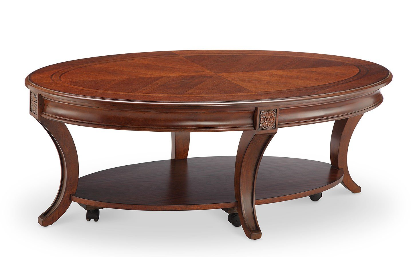 winslet oval cocktail table w casters coffee and cocktail tables occasional and accent. Black Bedroom Furniture Sets. Home Design Ideas