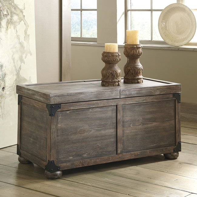 Lpd Furniture Accent White Coffee Table: Rustic Accents Storage Cocktail Table (Driftwood