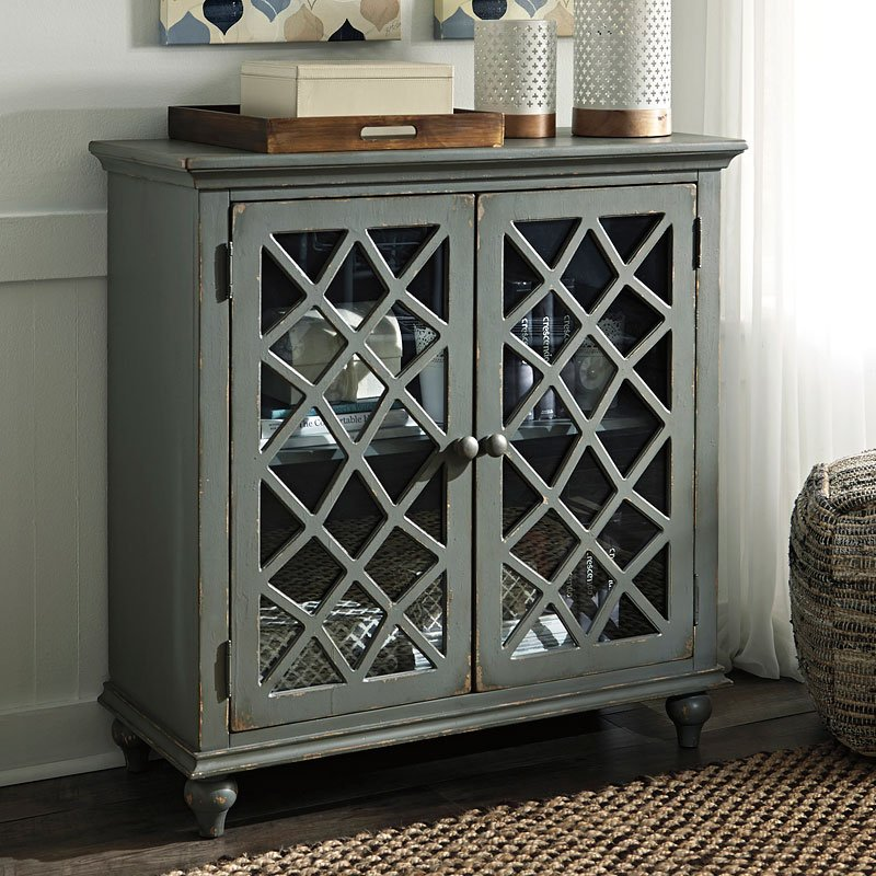 Mirimyn Antique Gray Accent Cabinet Accent Chests And