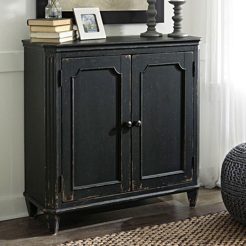 Mirimyn Antique Black Accent Cabinet - Mirimyn Antique Black Accent Cabinet - Occasional And Accent
