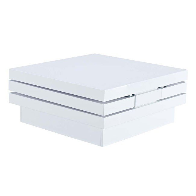 T730 Glossy White Coffee Table