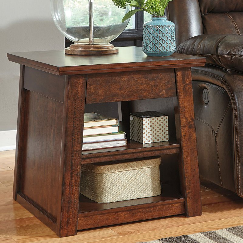 Harpan Rectangular End Table