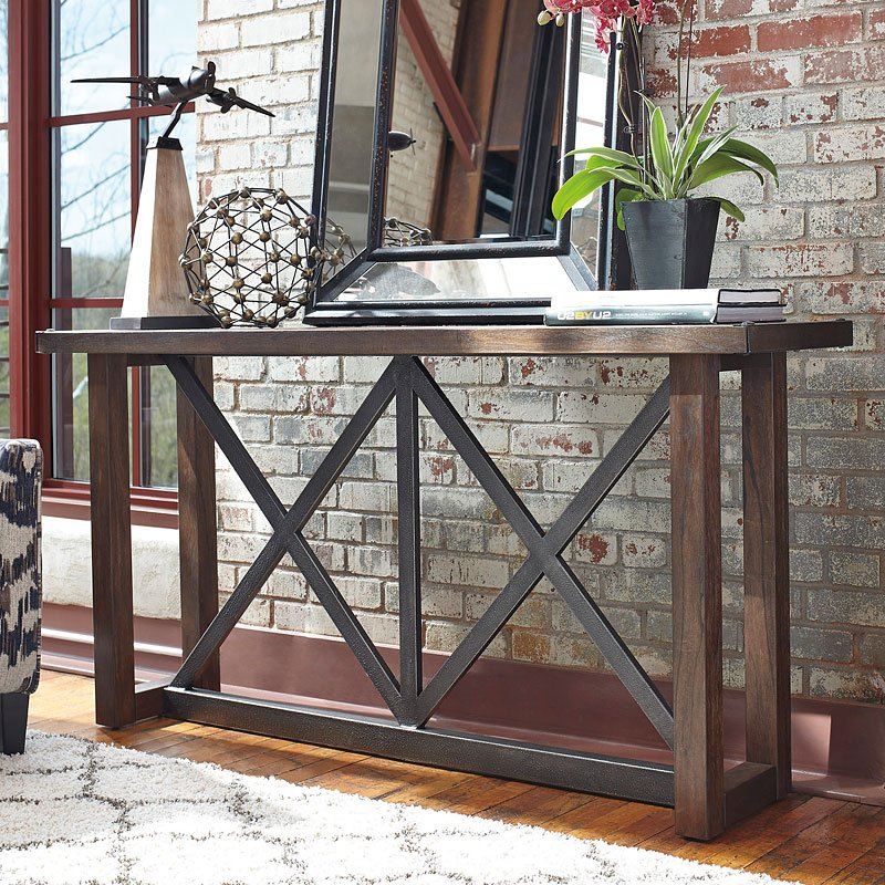 Leather Sofa Repairs Enfield: Zenfield Sofa Table By Signature Design By Ashley