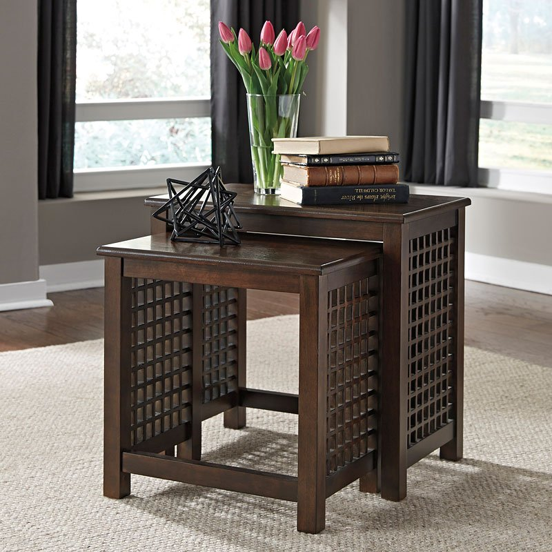 roxenton nesting end tables end tables occasional and accent furniture living room. Black Bedroom Furniture Sets. Home Design Ideas