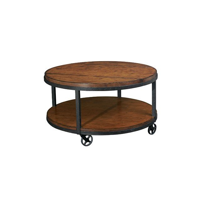Baja Round Cocktail Table By Hammary Furniturepick