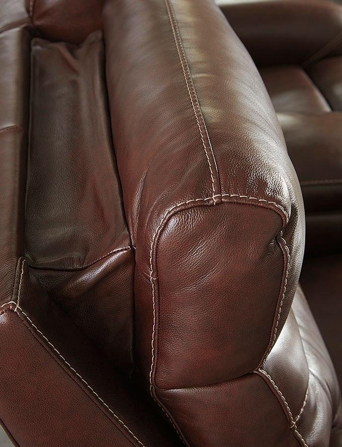 80c3e0db97 Sessom Walnut Power Reclining Living Room Set w/ Adjustable Headrests