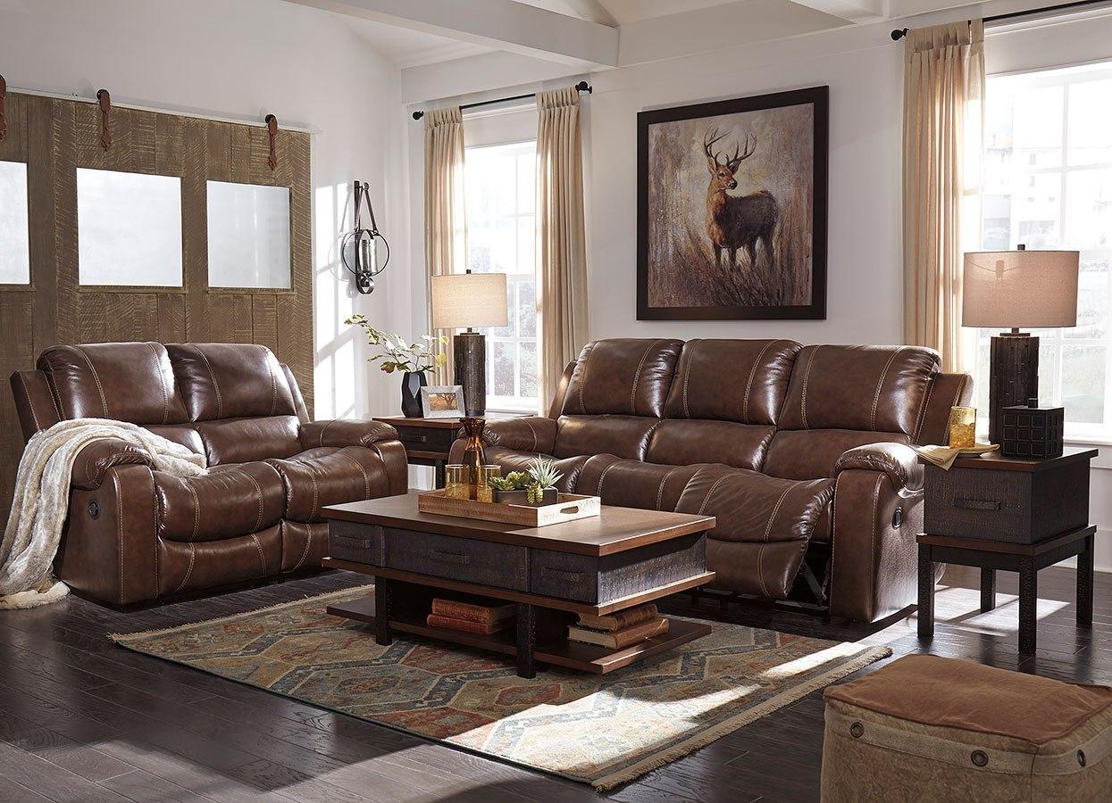 Rackingburg Mahogany Reclining Living Room Set By