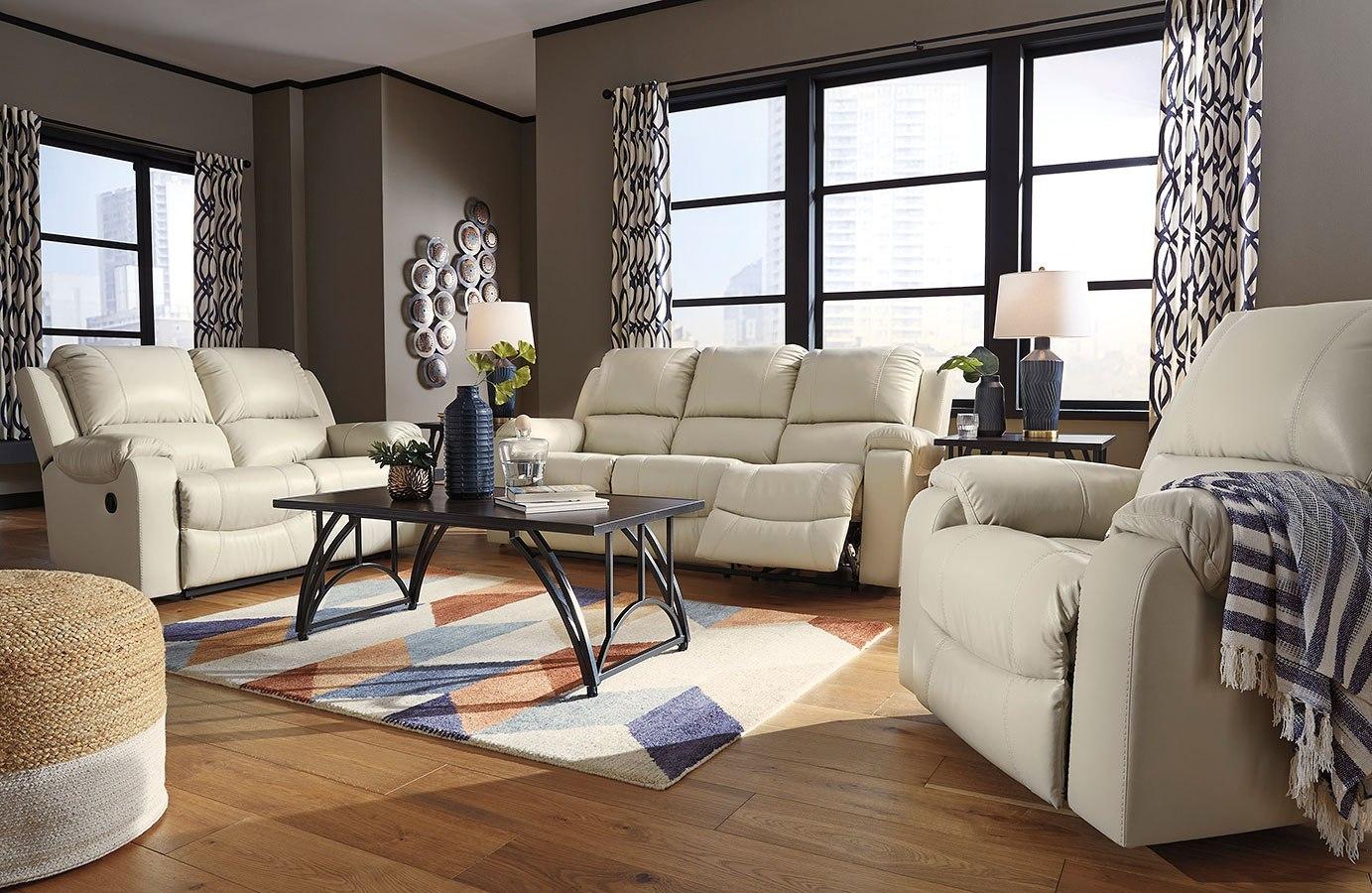 Rackingburg Cream Reclining Living Room Set