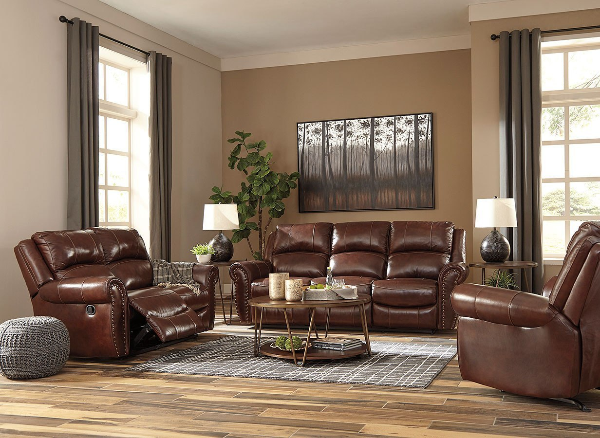 Bingen Harness Reclining Living Room Set By Signature