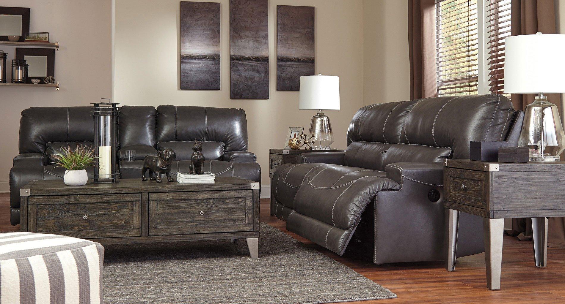Mccaskill Gray Power Reclining Living Room Set Living