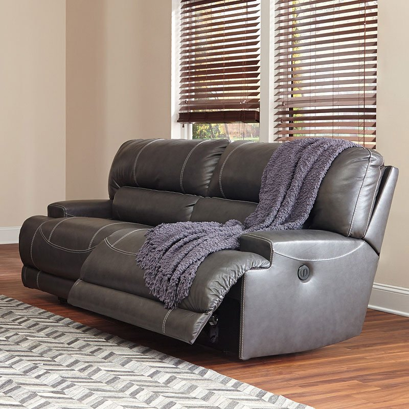 McCaskill Gray Power Reclining Sofa by Signature Design by ...