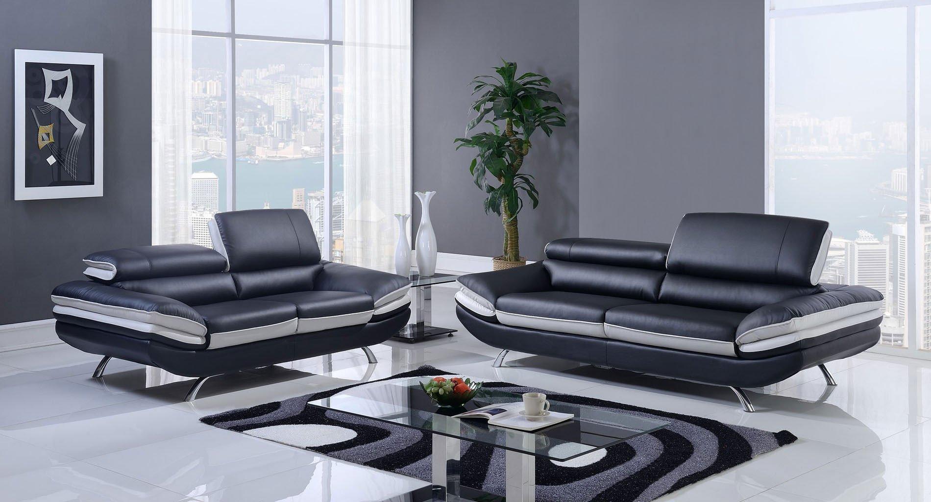 U7110 Living Room Set Nat Black And Light Grey By Global Furniture Furniturepick