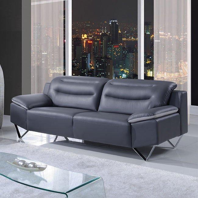 U7181 Sofa Nat Dark Grey And Light Grey