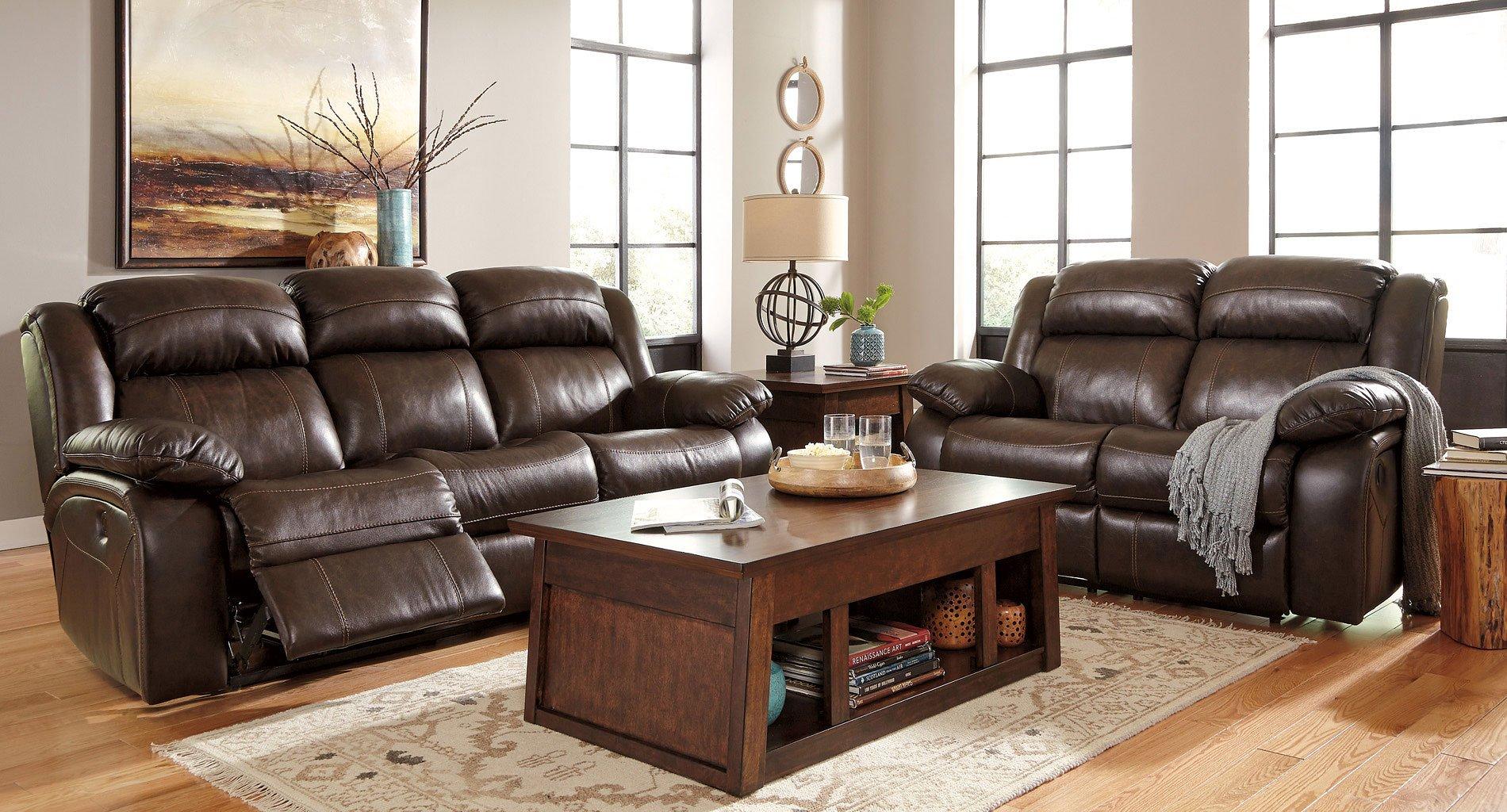 Branton Antique Reclining Living Room Set W Power By Signature Design By Ashley Furniturepick