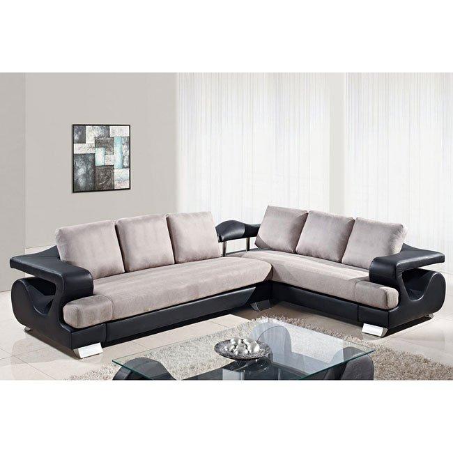 U7208 black and grey living room set by global furniture - Black and gray living room furniture ...