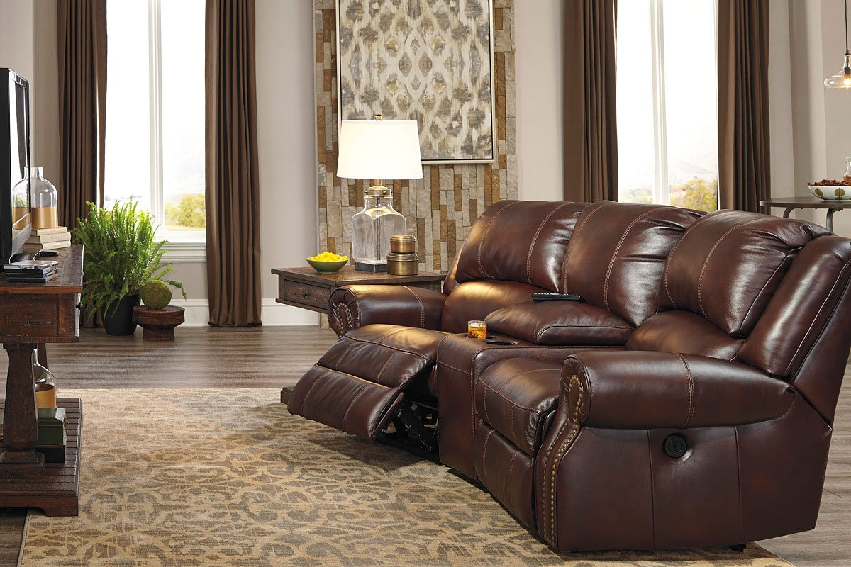 theater living room furniture collinsville chestnut power reclining home theater 14495