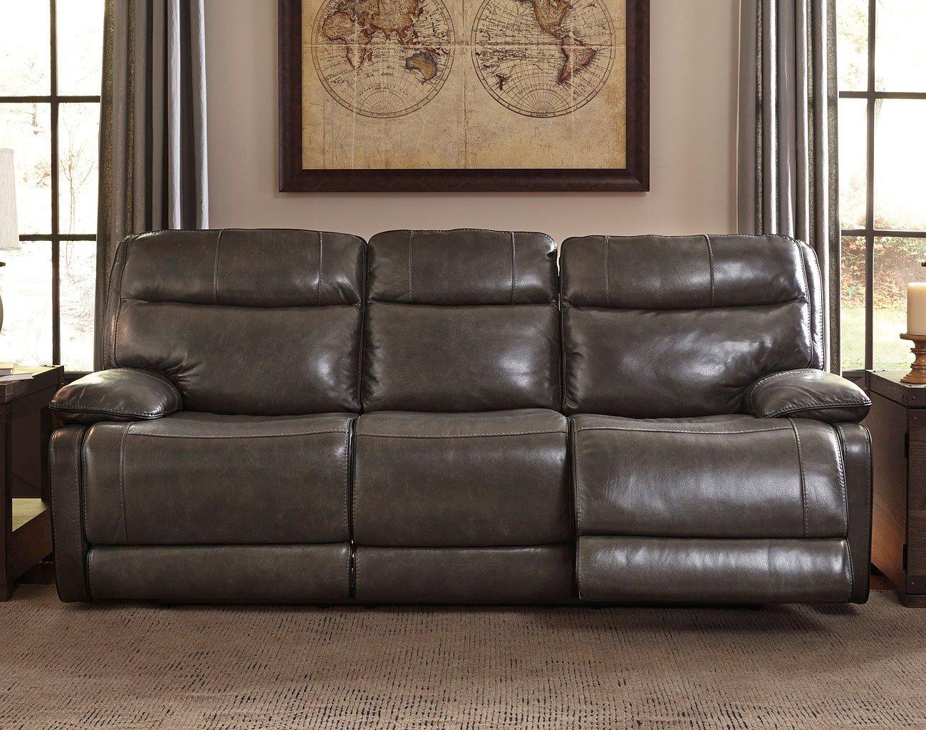 Palladum Metal Power Reclining Sofa By Signature Design By