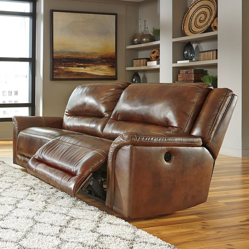 Jayron Leather 2 Seat Power Reclining Sofa By Signature