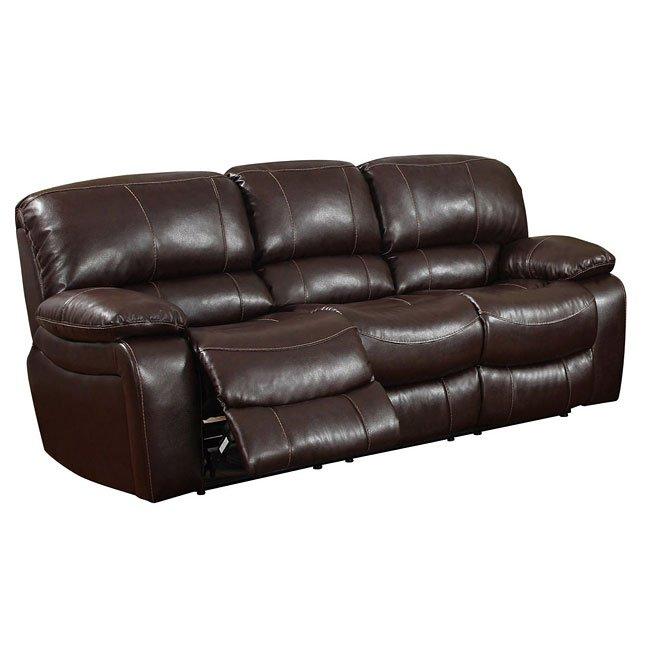 U8122 Burgundy Reclining Sofa
