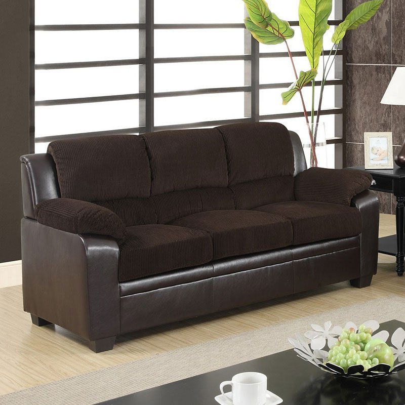 U880018 Sofa Corduroy And Pvc Sofas Living Room Furniture Living Room