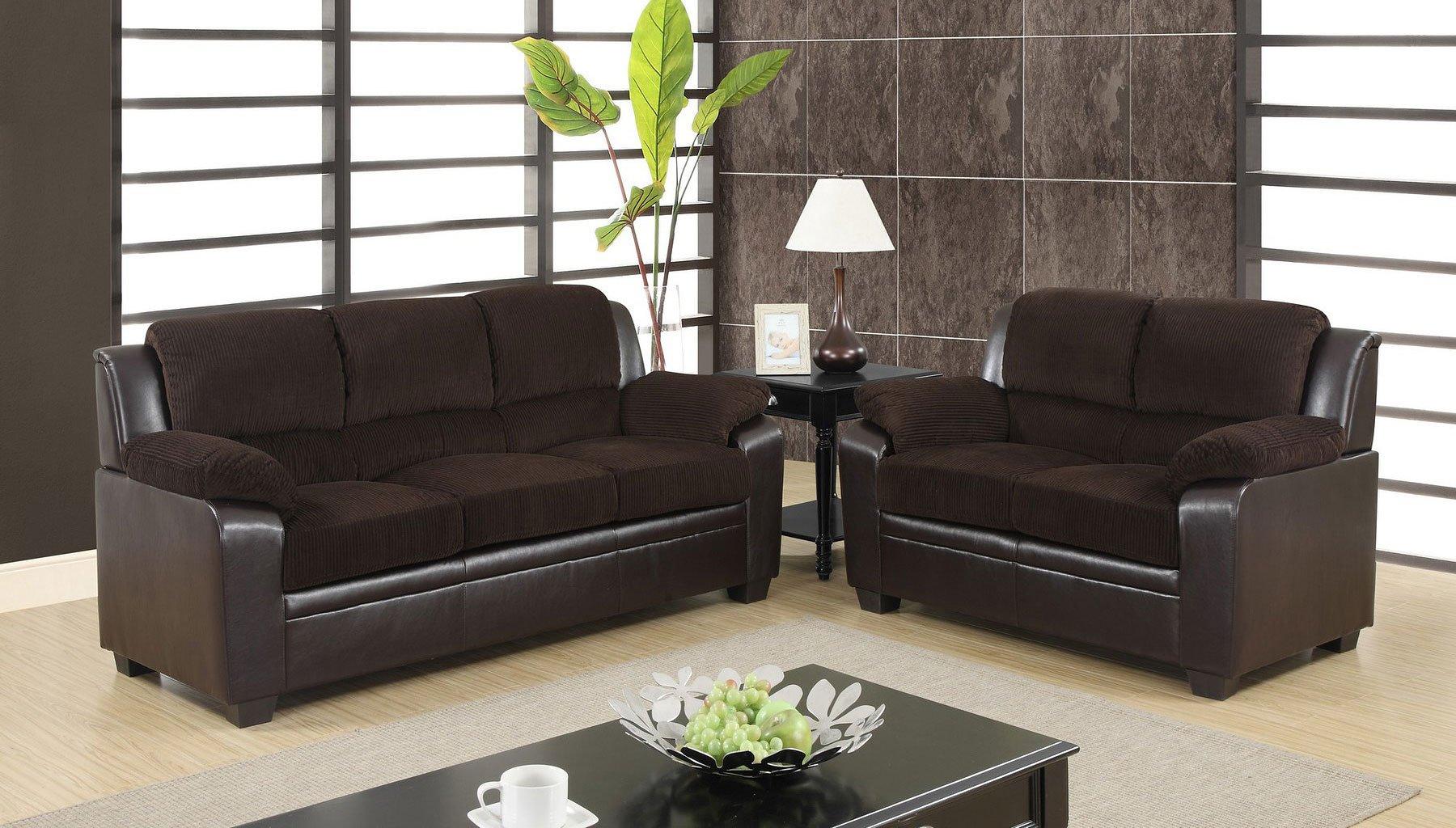 U880018 Living Room Set Corduroy And Pvc Living Room Sets Living Room Furniture Living Room