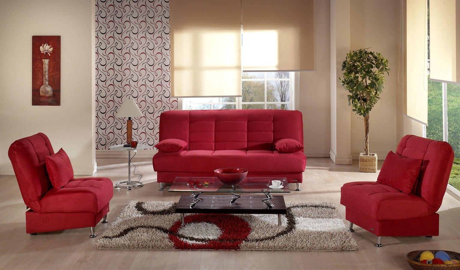 Vegas Living Room Set Rainbow Red By Istikbal Furniture