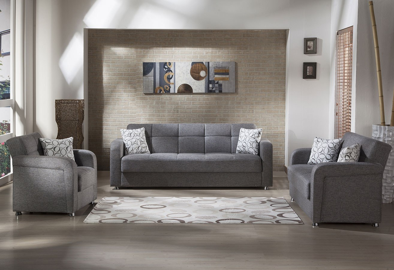 Vision Living Room Set (Diego Gray) by Istikbal Furniture, 1 Reviews ...