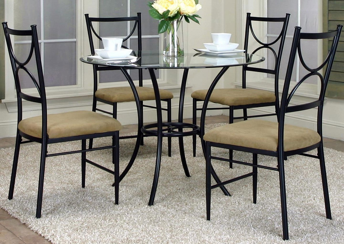 Hudson 5 piece dining room set casual dining sets for 5 piece dining room sets