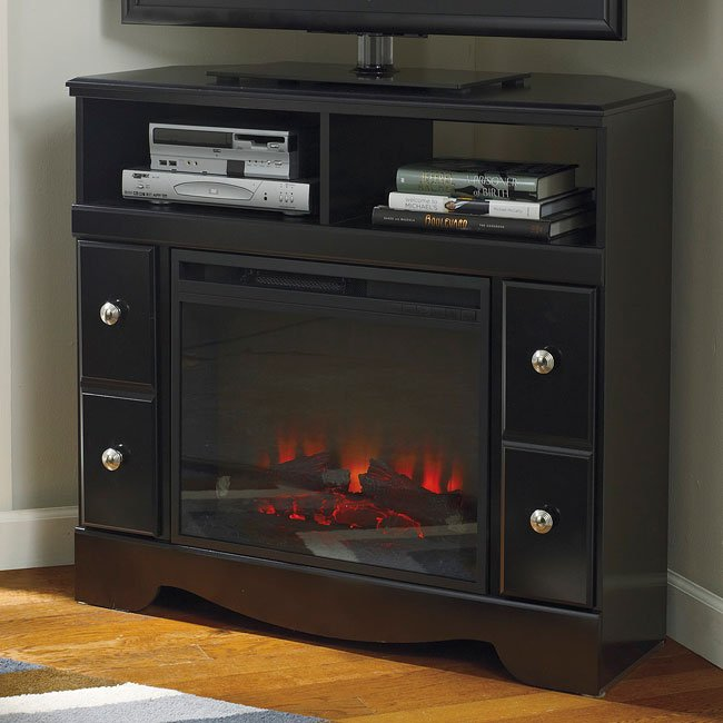 Shay Corner Tv Stand W Fireplace By Signature Design By Ashley